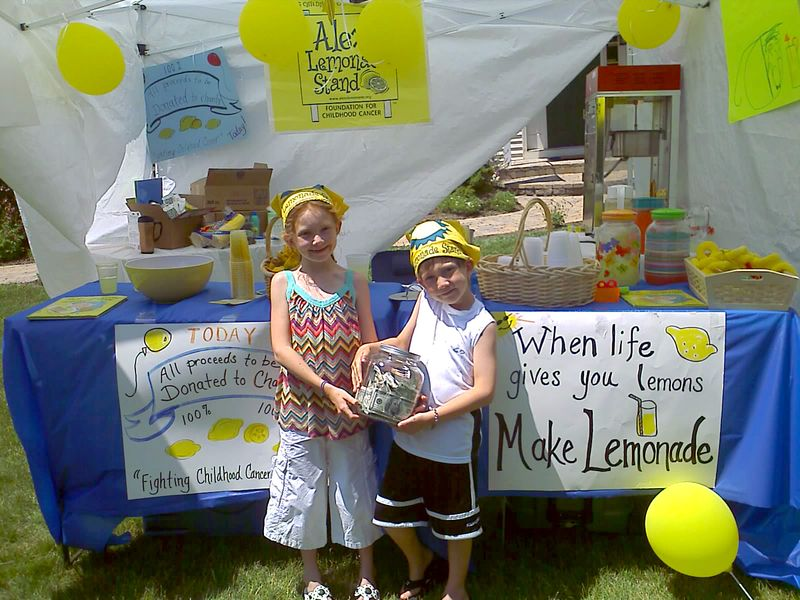 Callie and Max show off all the money they raised! Click here and donate this year!
