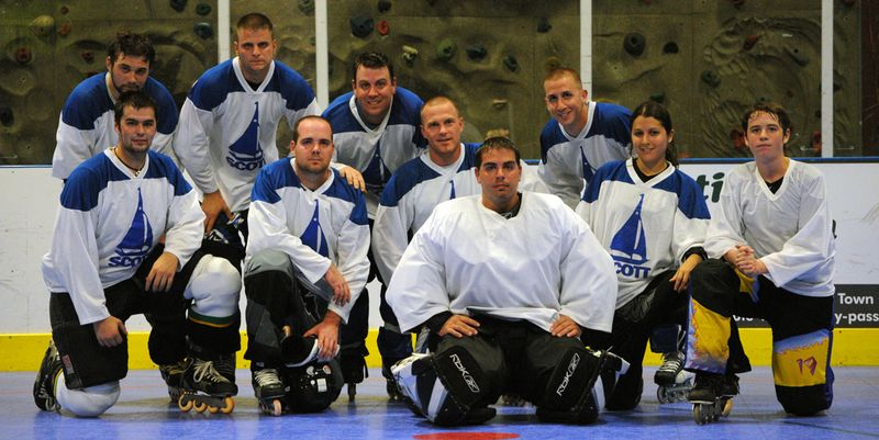 Meet Scott Honda's own Lock n' Rollers....They are happy, but hockey players aren't supposed to smile