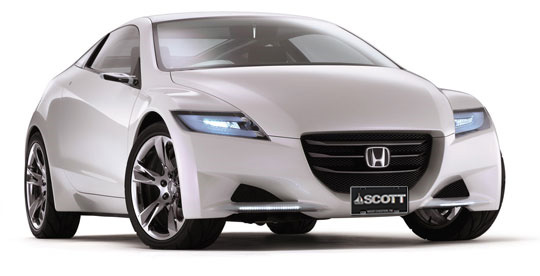 2011 Honda CR-Z sporting a Scott Plate...can't wait for that to be a reality