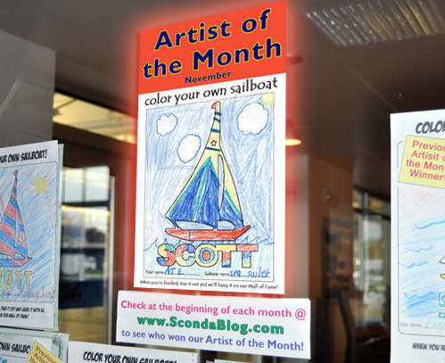 "Artist of the month - AJ's ""Sea Sailer"""