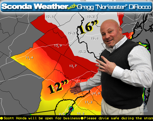 "Gregg ""Nor'easter"" DiRocco says for our fourth storm of the year we could eclipse 6-12 inches...again"