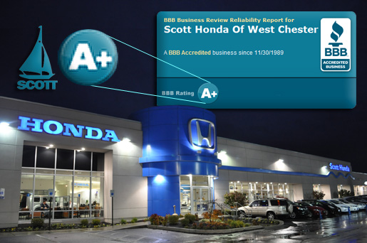 Scott Honda :: A+ Better Business Bureau Rating
