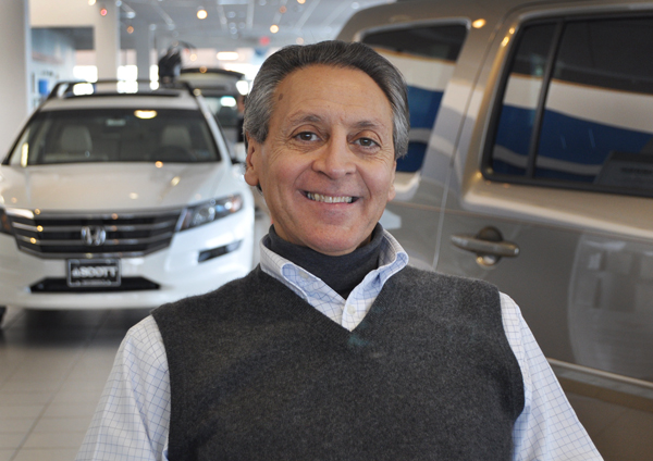 Frank Barone on the showroom floor of Scott Honda last Spring.