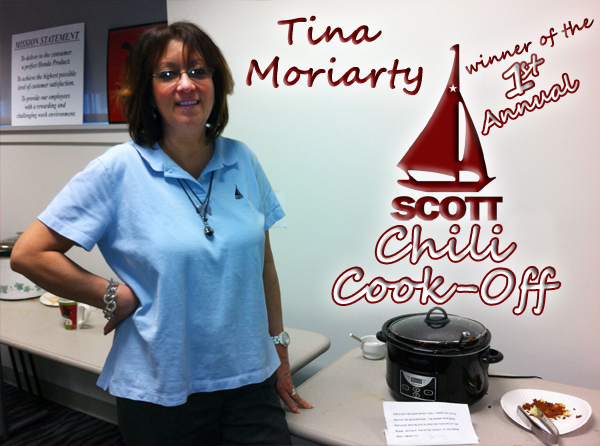 1st Annual Scott Honda Chili Cook-Off Winner - Tina Moriarty